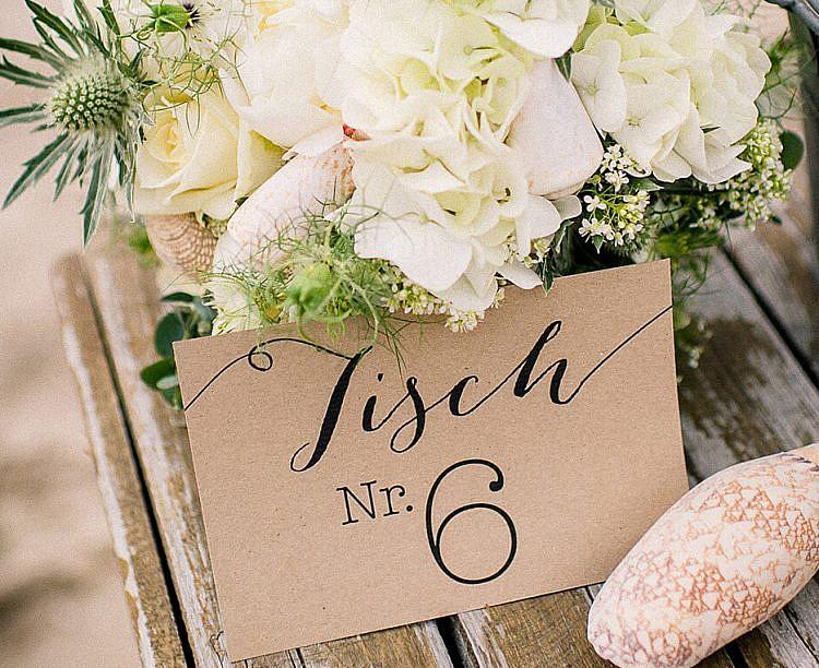 Tischkärtchen Hochzeitspapeterie Inspiration