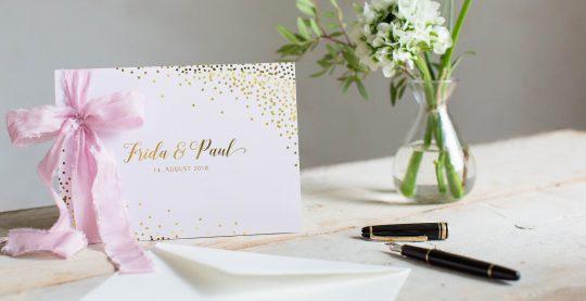 moderne Hochzeitskarten