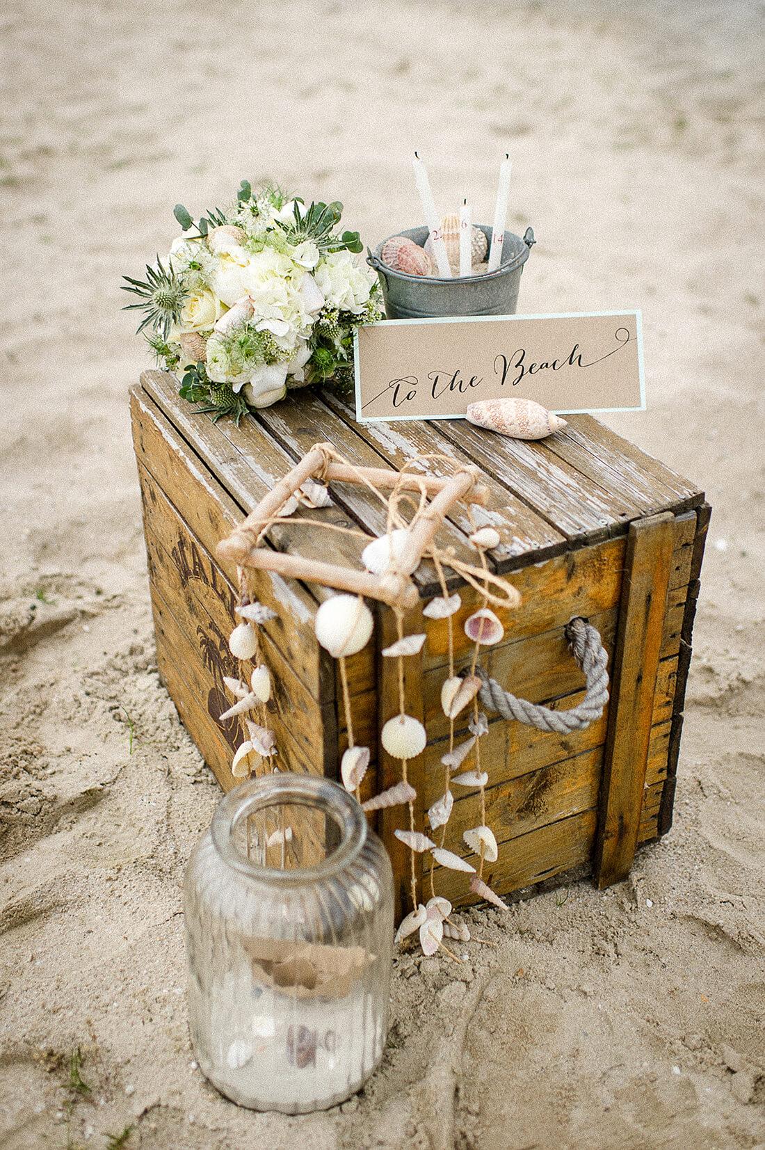 Hochzeit am See Papeterie Kraftpapier Muscheln