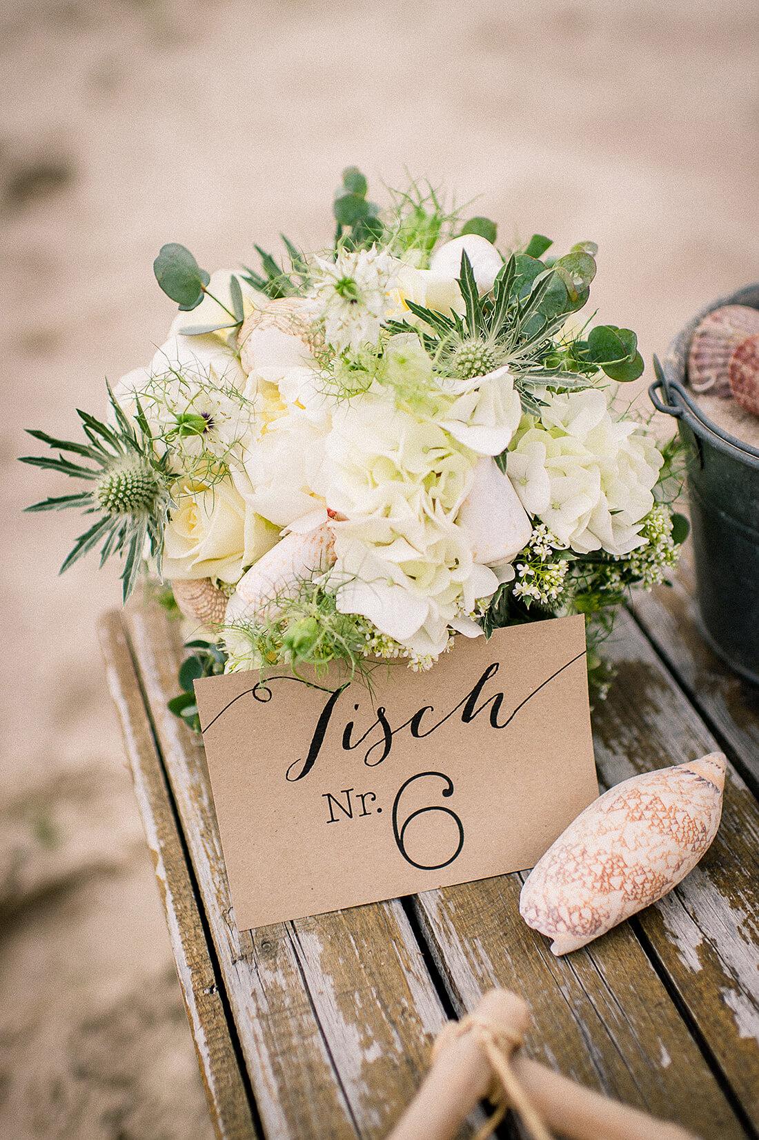 Hochzeit am See Tischpapeterie Inspiration