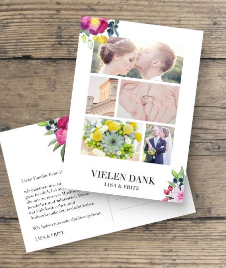 Verspieltes rosen Aquarell Design von Marry Paper