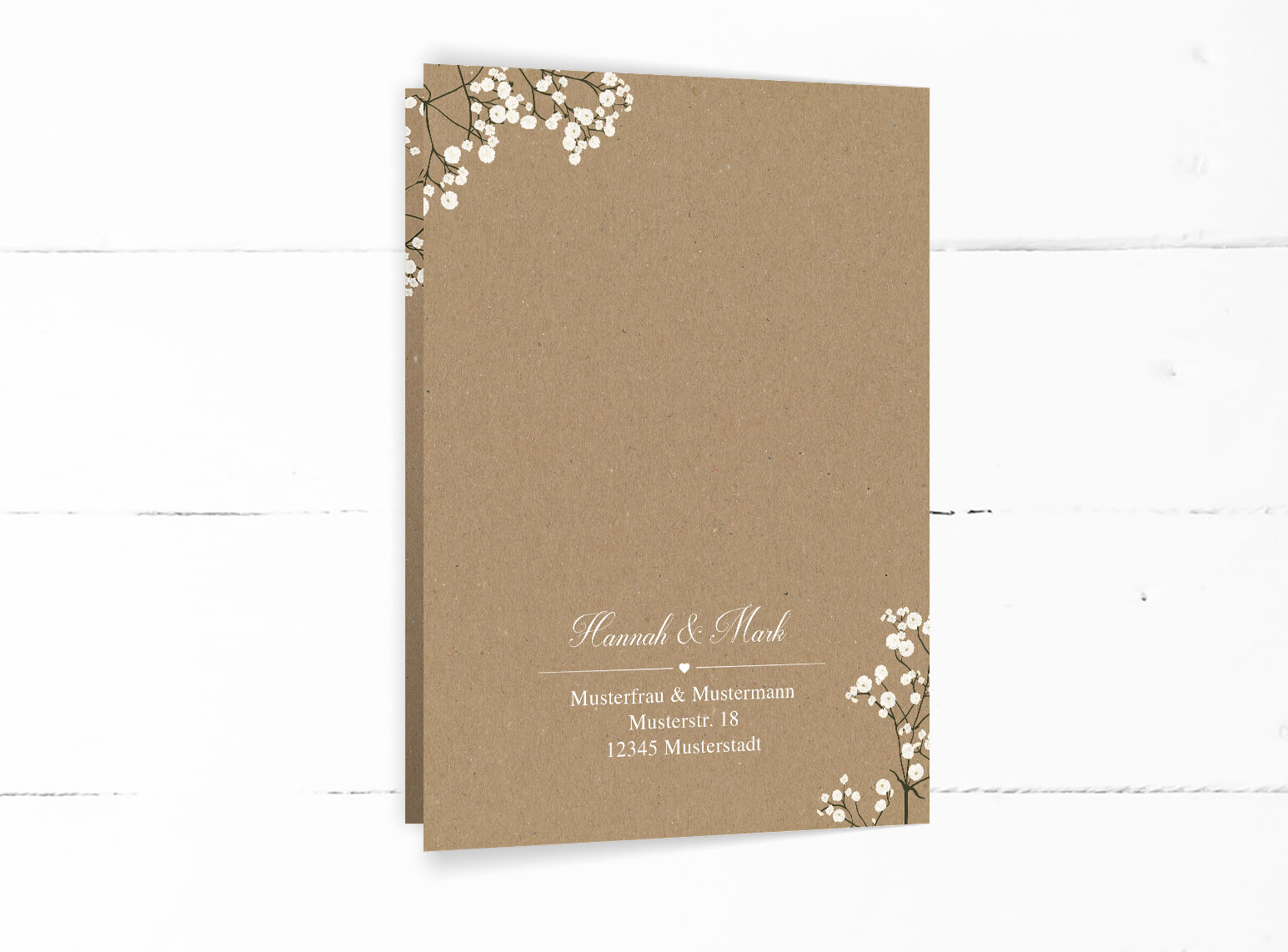 Schleierkraut Blumen Hochzeitskarten Einladung