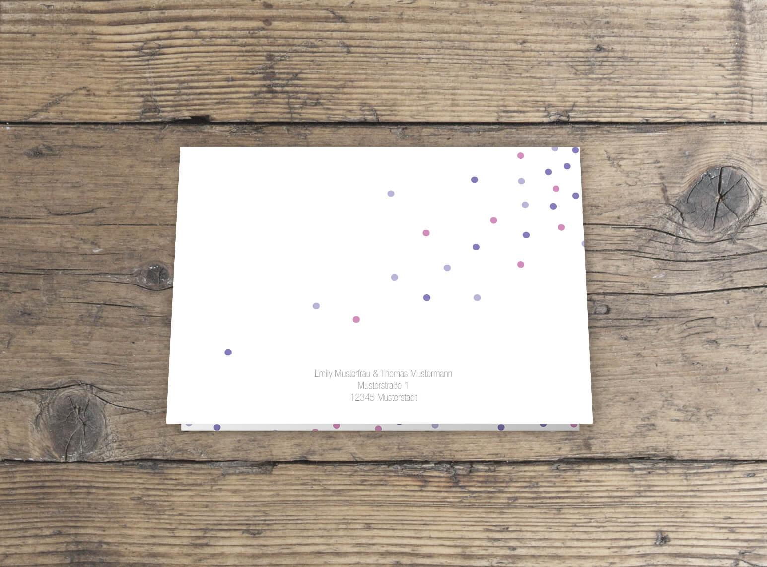 Klappkarte Diplomar Format Hochzeitseinladung