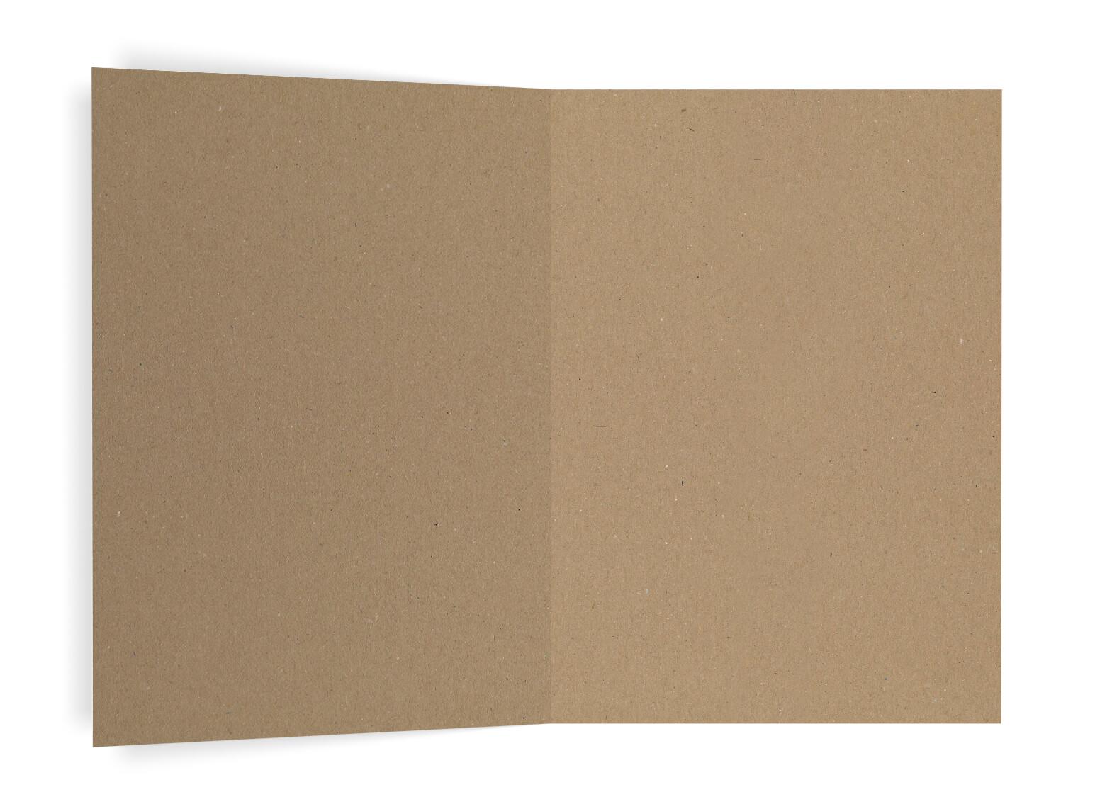 Romantisch Vintage Kraftpapier Schleierkraut Kirchenheft Umschlag innen
