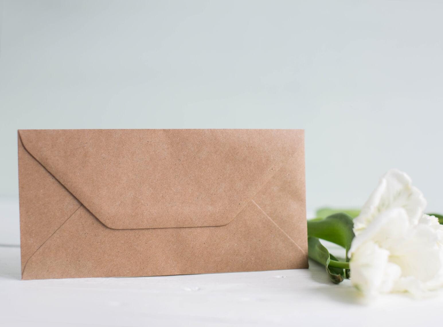 Umschlag Din Lang Kraftpapier Marry Paper