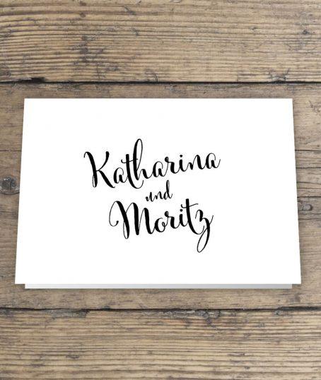 Hochzeitseinladung im Handlettering-Stil
