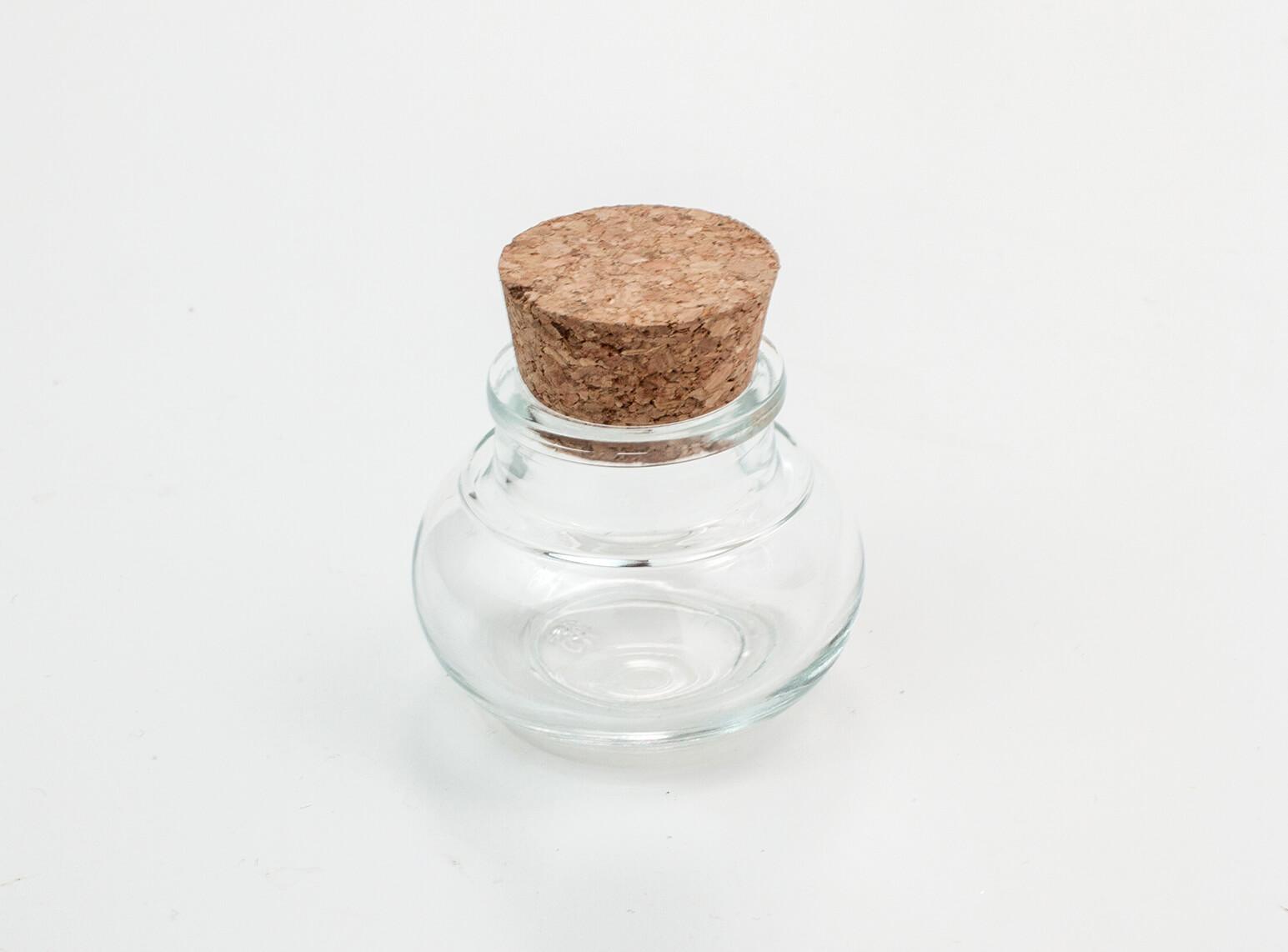 Gastgeschenk Korkenglas / Glas Hochzeit / Geschenk / Gefäß