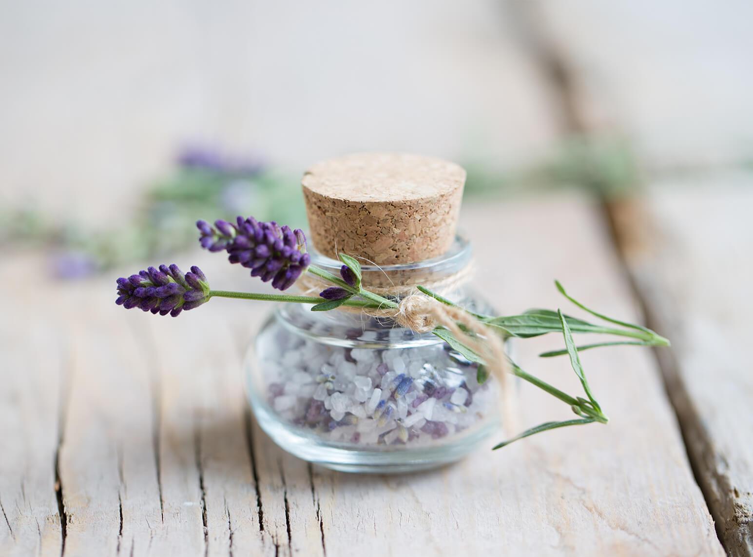 Gastgeschenk Give Away Hochzeit Diy Glas Tigel Korken Lavendel Salz