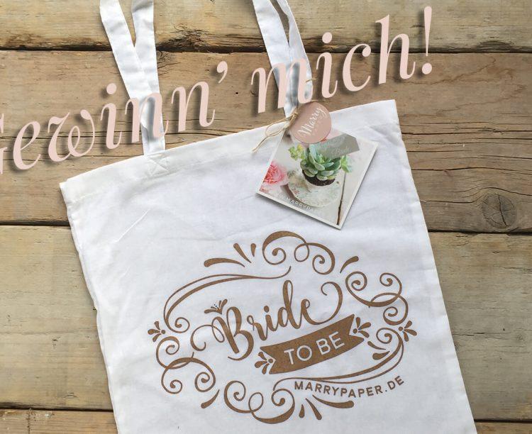 Gewinnspiel, JGA Bride to be Tasche