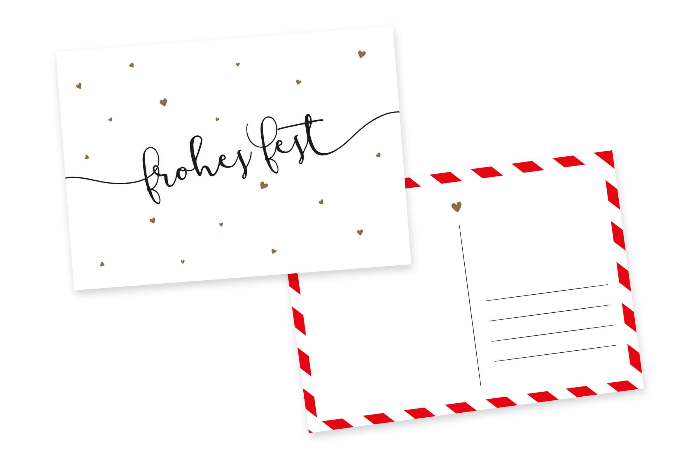 Weihnachtskarten Frohes Fest