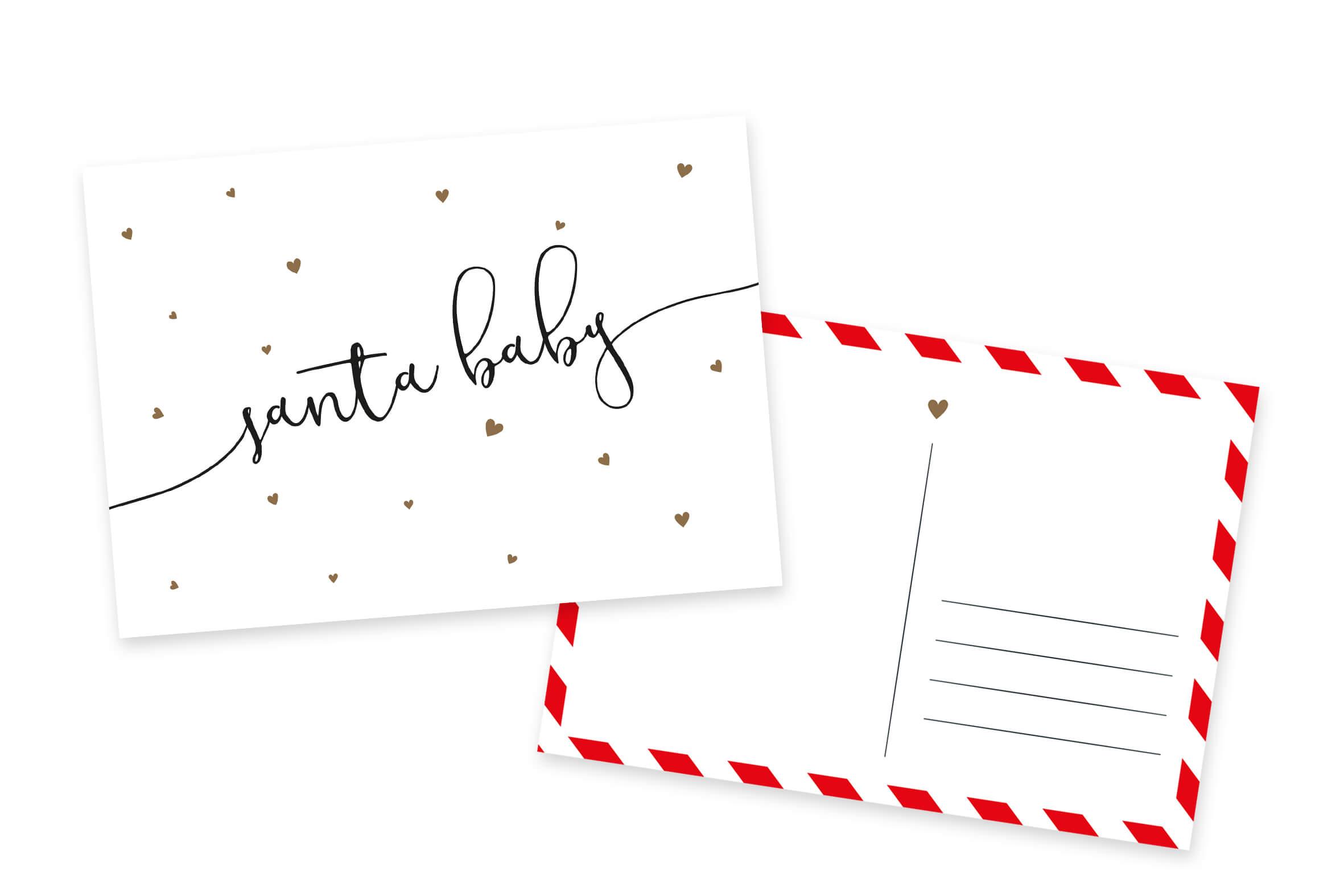 Weihnachtskarten Santa Baby