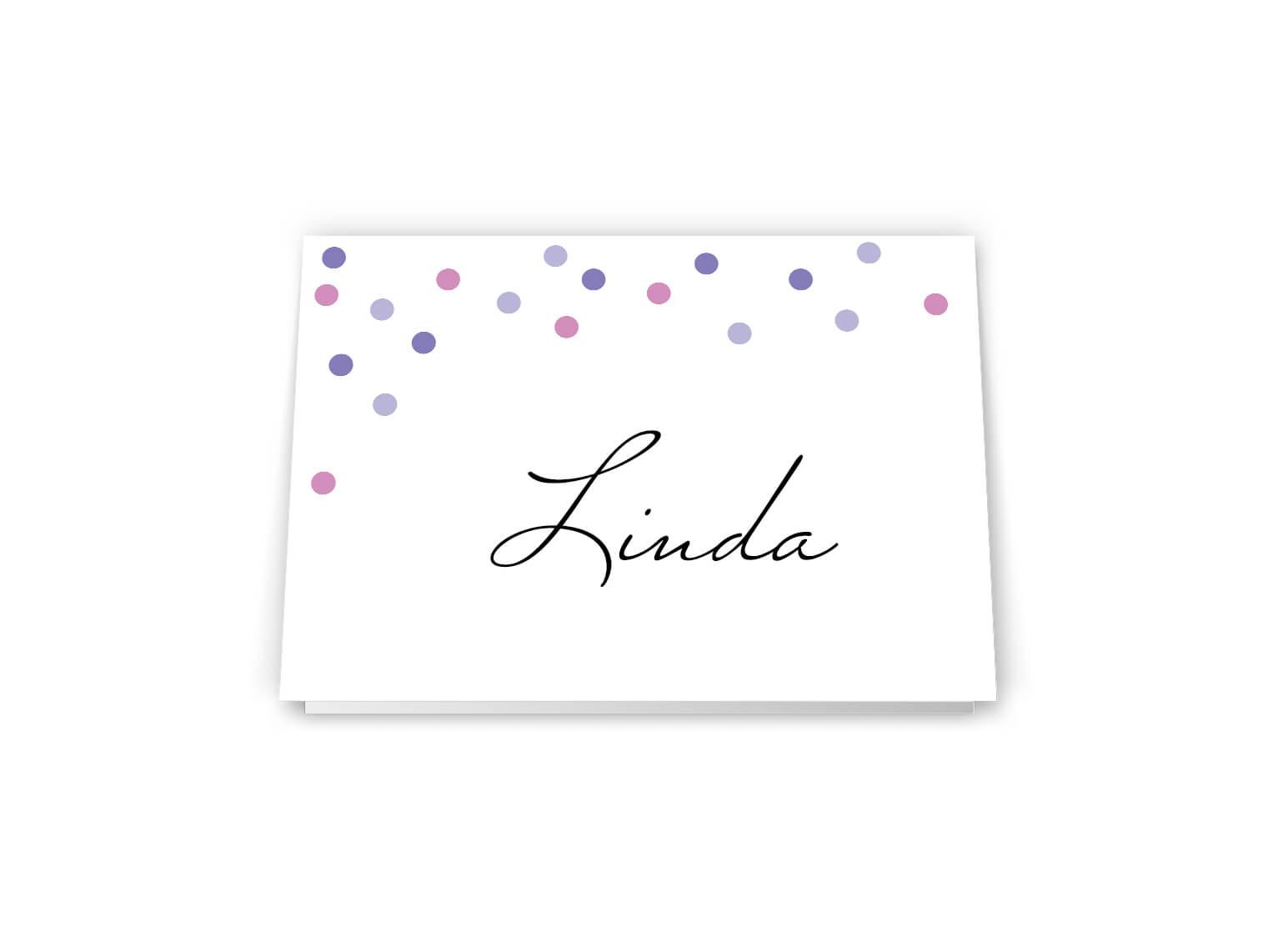Tischkarten Hochzeit Namensschild