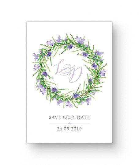 Save our Date Hochzeit Blumenkranz