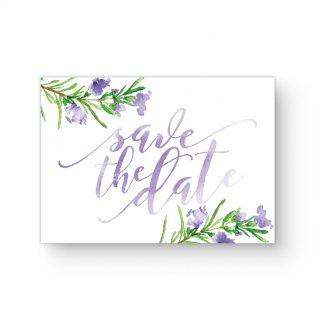 Save The Date Rosmarin Aquarell Handlettering Hochzeit