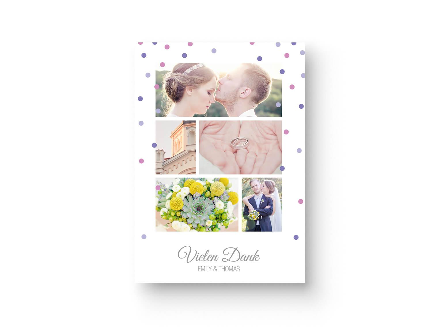 Modernes Elegantes Dankeskarten Design von Marry Paper mit Foto