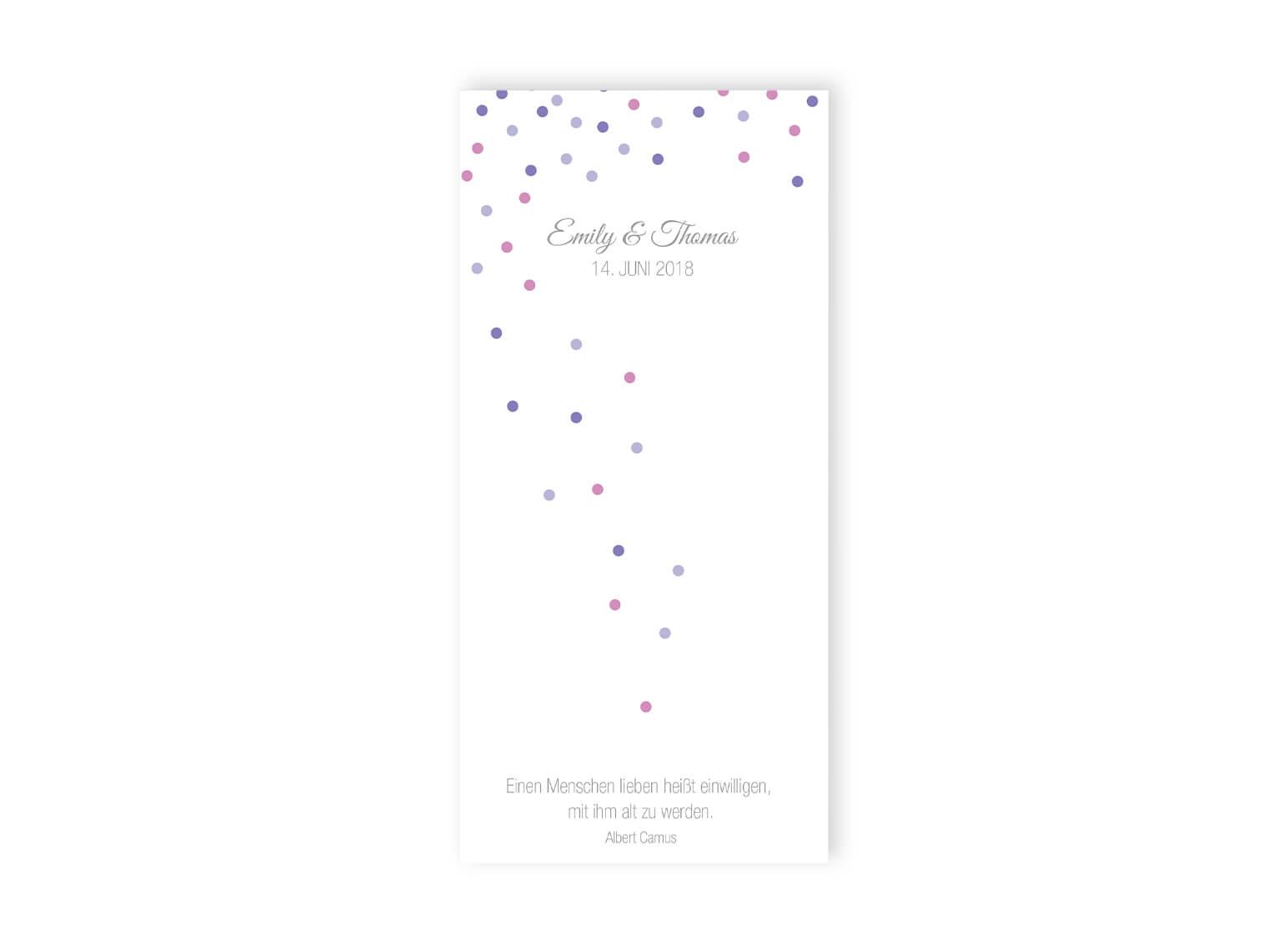 Elegantes Design Kirchenblatt Lang Hochzeit