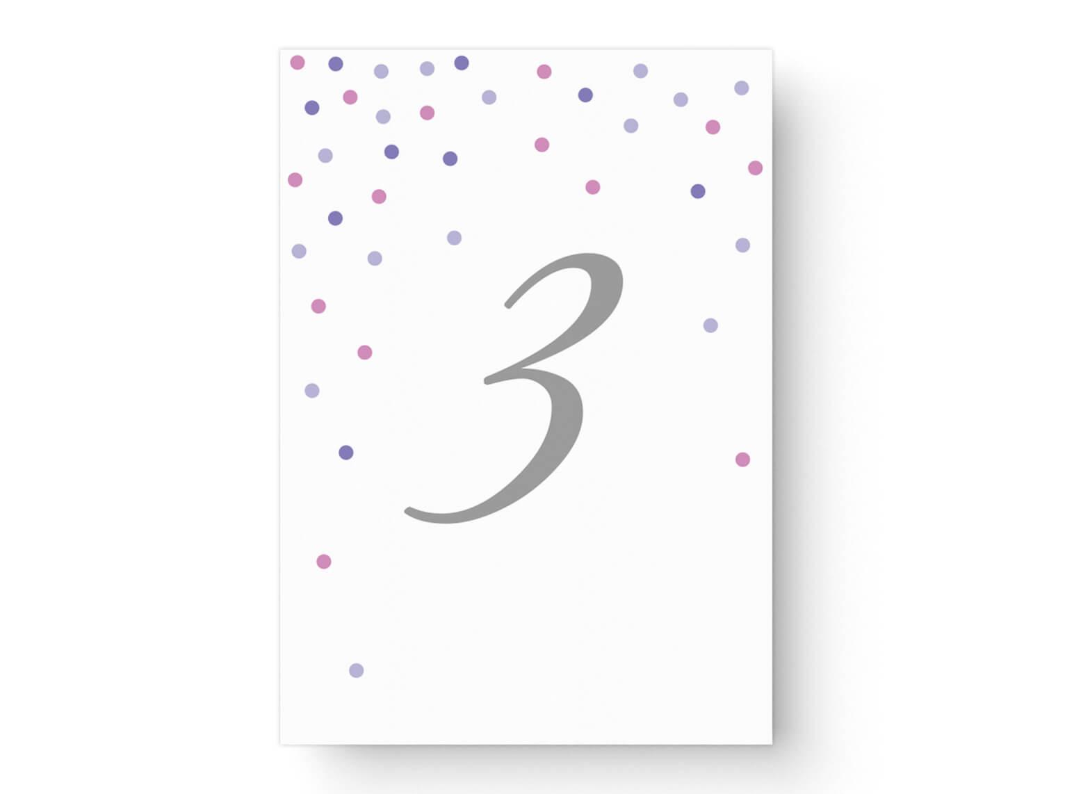 moderne Tischnummern Hochzeit Modernes Design
