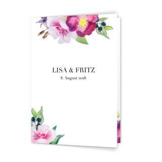 Hochzeitskarten Aquarell Hochzeitseinladung aus Aquarellfarben Blumen