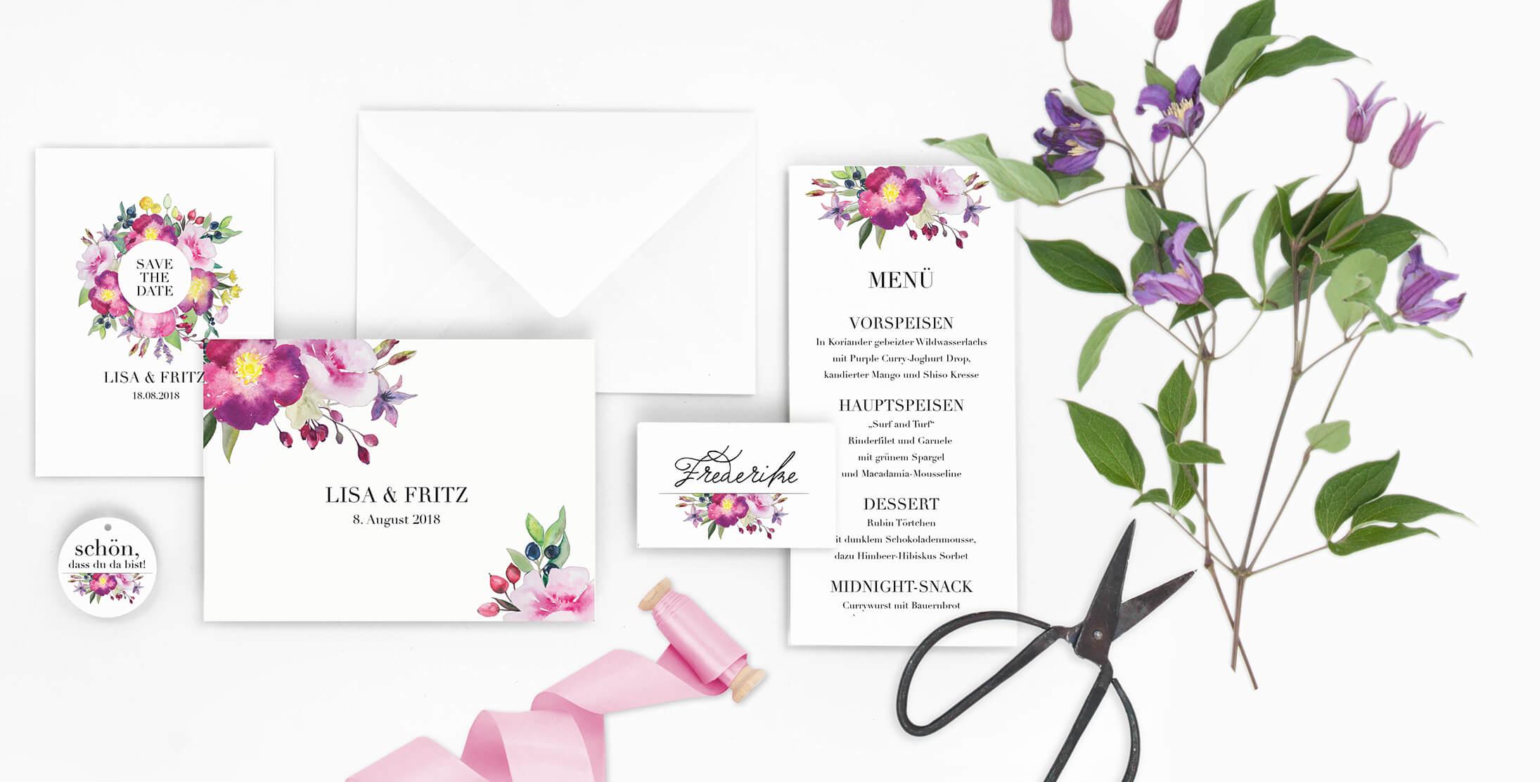 Marry Paper Hochzeitskarten Hochzeitseinladungen Rose Marry Marry