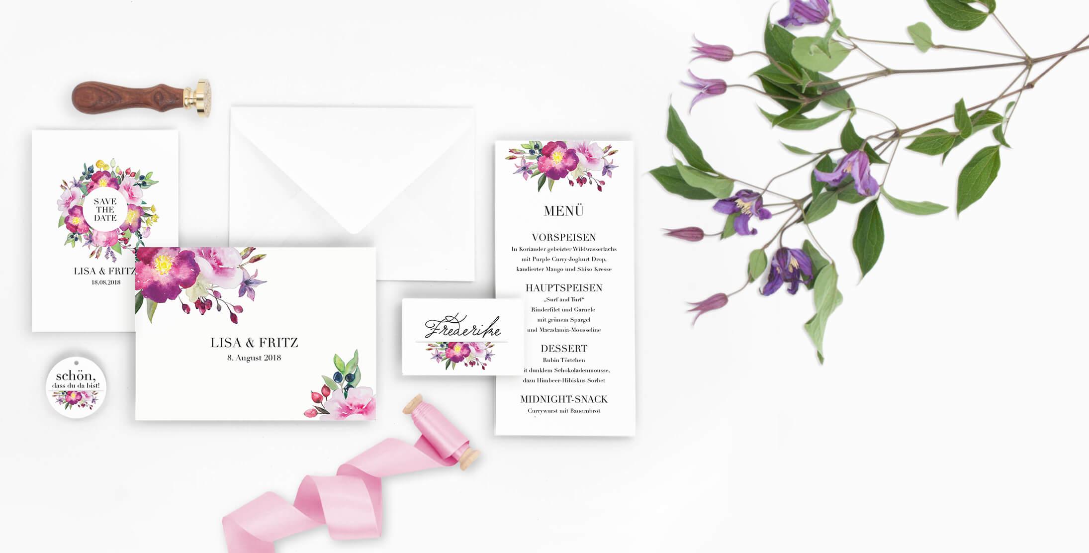Marry Paper Hochzeitskarten Hochzeitseinladungen Rose Marry 3