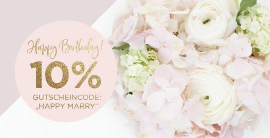 Geburtstag Marry Paper 10% Gutschein Hochzeitspapeterie