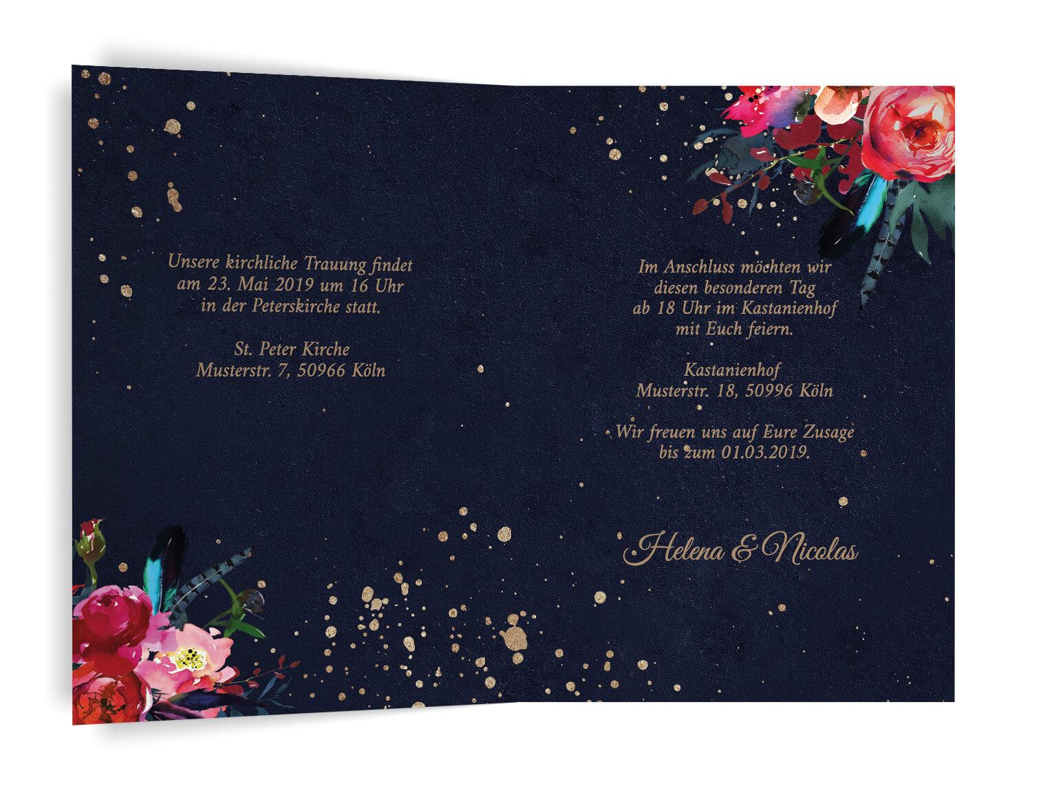 Schicke Hochzeitseinladung